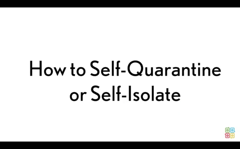 Self-Quarantine vs. Self-Isolation - Coronavirus (COVID-19) Updated 42220-1