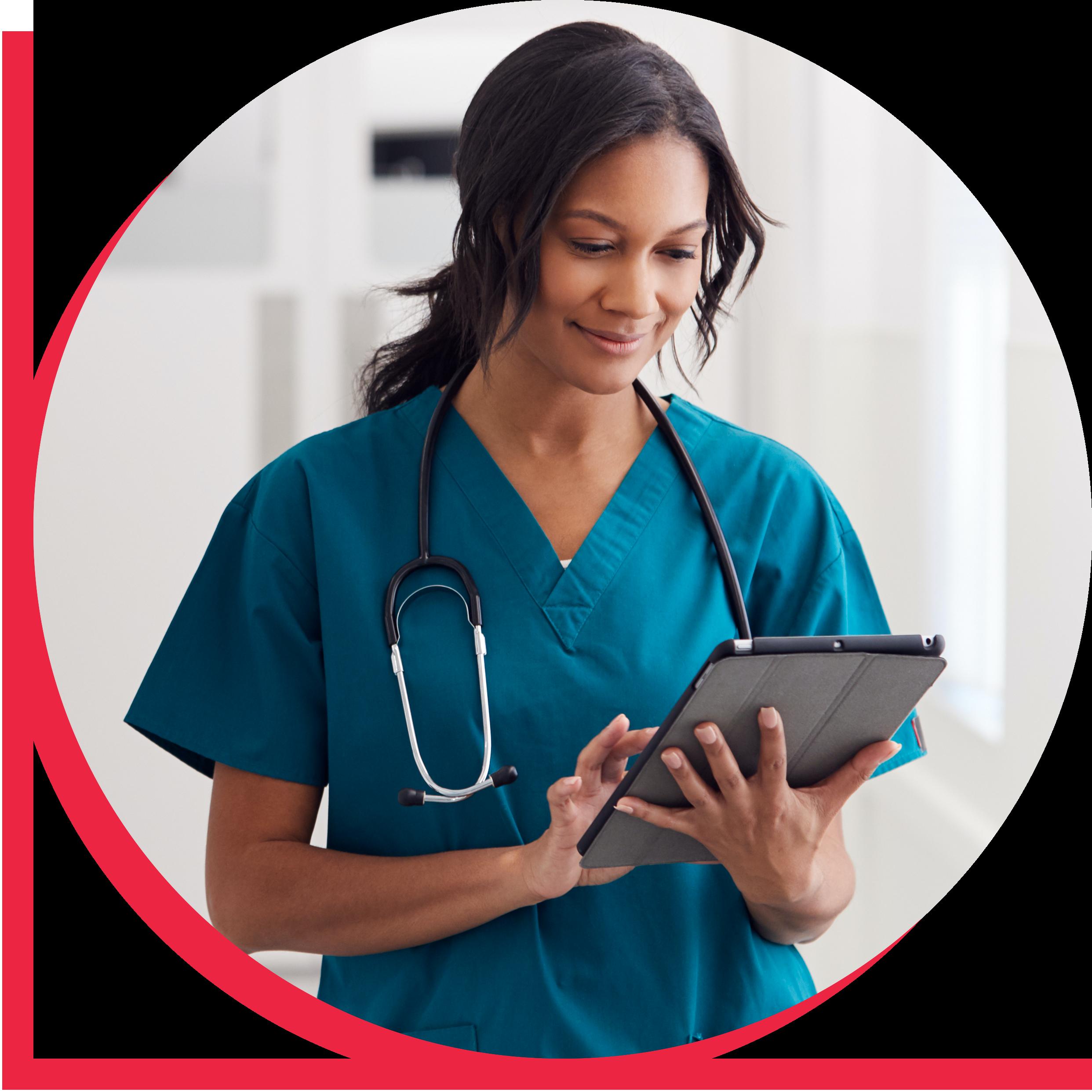nurse tablet_red boarder